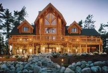 Barns and log homes / rustic cabin ideas