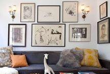 walls: sofa / Finish that grouping.