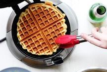 Victory Waffles / We need to remember what's important in life: friends, waffles, work. Or waffles, friends, work. Doesn't matter, but work is third.