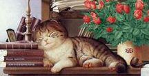 Gatíneos ❤ / Ilustrações de gatíneos cada um mais fofo que o outro! Aprecie sem moderação.