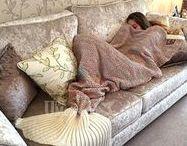 Mermaid Tail Blanket / Blankets and Mermaid Tail Blankets