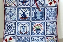 CrossStitch SAL Delft Blue Tiles 2012 / Each month a new tile to cross stitch.