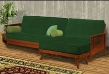 Wood Futon Frames / These gorgeous futon frames set the tone in any room and can be combined with any of our futon mattresses for any degree of comfort.