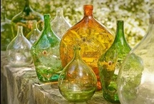 Carboy, Water Bottle, Bell Jar  Bliss / Decorating with Carboys, Large water bottles, and Bell Jars. / by GB Egger