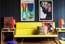 Retro / Mod / Avant-Garde / Etc. / variety of retro, boho, modern homes  / by Clementine Griffith