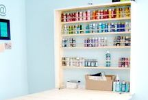Art & Craft Spaces & Organization / by Dawn Rogers