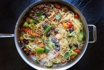 Summer Pastas / Pastas perfect for picnics and sunset dinners on the patio.