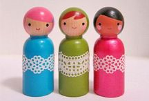 Art - Dolls > Peg & Clothespin Dolls / by Dawn Rogers