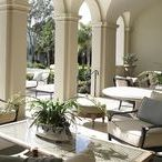 C L A S S I C A L  |  V I L L A / As if an authentic Mediterranean villa washed onto South Florida shores. Exterior and interior architecture hone in on detailed high arches and groin vaults, cut-out designs, and marble floors with detailed inlays.