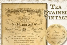 Tea Stained Vintage Wedding / A wedding made from vintage elements, items gathered over time, antiques from a beloved Grandmother, timeless, classic and yet wonderfully new! / by Audrey Jeanne's