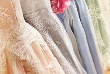 Tea Length Wedding Dresses by Joanne Fleming Design / Couture vintage inspired tea length bridal and wedding dresses from Joanne Fleming Design, using the finest lace, silk, and tulle.