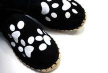 Canvas handpainted shoes