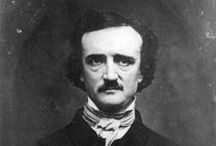 """Edgar Allan Poe / """"I Became Insane with Long Intervals of Horrible Sanity.""""  -- Edgar Allan Poe / by Chris Winfield"""