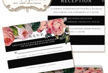 Black & White Wedding / Black and White Weddings are timeless and trendy!  Especially when paired with wide chic stripes and your favorite flowers. / by Audrey Jeanne's