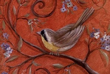 Birds / I love birds - real or in designs. Hope is the thing with feathers