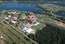 Overhead Views of Campus / Our main campus in Saint Leo is nestled among the rolling hills of west Central Florida just 30 minutes north of Tampa – home to world-class universities, arts and culture, sports, shopping, dining and opportunities for professional engagement.