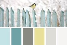 Colorways / I am obsessed with color. So I've collected tons of lovely little color palettes for inspiration for home decor, wedding ideas, DIY and craft projects, just about everything!