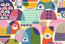Geometric Pattern Design / This is a geometric surface and textile pattern design board. Circles, rectangles, triangles, chevron, oval designs, you name it, it's in here.