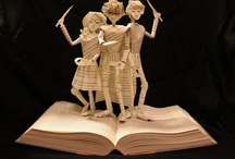 Bookish Art / Art made from re-purposed books.