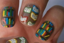 Books & Movies on Your Fingertips / Book and Movie themed nail art.