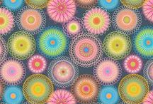 Will It Go Round In Circles?!?! / This is another one of my surface pattern design boards, and showcases circle and circular inspired art and designs.