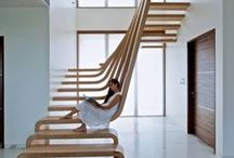 Stairs / types of stunning stairs available for inspiration. Visit theluxpod.com and stay at the LuxLoft penthouse to see a stunning staircase.