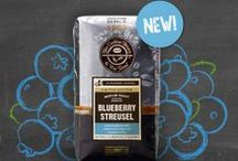 Blueberry Streusel Flavored Coffee / The flavor of resh ripe blueberries complemented by traditional brown sugar and pastry notes for a tasty flavored coffee treat! To purchase, please visit us at: http://www.coffeebean.com/blueberry-streusel-coffee/d/1314