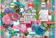 {Best Mom Ever} Digital Scrapbook Kit by Clever Monkey Graphics / {Best Mom Ever} Digital Scrapbook Kit by Clever Monkey Graphics