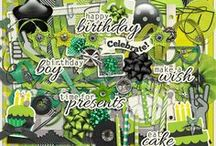 {His Lime Crush Birthday} Digital Scrapbook Kit by Clever Monkey Graphics / http://store.gingerscraps.net/his-lime-crush-birthday-by-Clever-Monkey-Graphics.html http://www.oscraps.com/shop/product.php?productid=10008935&cat=697&page=1