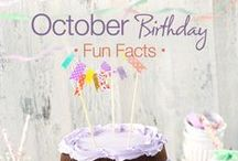 October Birthday Party Ideas / Great birthday party ideas and inspirations for an October birthday party!