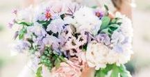 Lilac Florals / Lilac and hues of purple inspired flowers and decor for the wedding ceremony and reception. From stunning lilac bridal bouquets to glorious lilac centrepieces, lilac is a beautiful colour for your wedding!