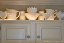 White China / Our first china was white. Today it lives at our cabin along with an eclectic assortments of pieces found at garage sales and thrift stores. I love dining with white china at our mountain cabin--it turns our cabin into a perfect cottage. / by Marlee Huber