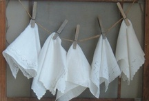 Handkerchiefs / I have a drawer of beautiful handkerchiefs from my mother and my aunts. What to do with them? / by Marlee Huber