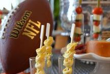 Football Party / Food, drink and decor ideas to host the ultimate Game Day, College Football, NFL Sunday, Big Game or Super Bowl party.