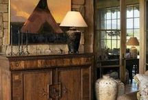 RUSTIC DECOR / Rustic decor, rooms and homes. Country life.