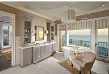 CB Home: Beautiful Bathrooms / Indulge in this showcase of fabulous interior design that features the best bathroom sinks, tubs, showers and fixtures - both indoor and outdoor - from Coldwell Banker California.
