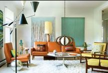 Home Decor: Mad Men Style / Take a cue from Don and Betty. Inspired by the hit TV series Mad Men, these are some of our favorite 60s and Mid-Century modern-style interiors and home accessories.