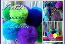 Peacock Party - OUR MOST POPULAR PIN! / At Pretti Mini, we make gorgeous tulle pom poms, wands, fabric backdrops and whimsical party favors and centerpieces. Make your next party GORGEOUS! Wanna save 10% on all orders? It's easy! Subscribe to our VIP CLUB to get the coupon code! You'll be the first to know about our sales and promotions, AND get sneak peaks at all newest goods! Just cut and paste this into your browser to sign up:   http://eepurl.com/4KyWb