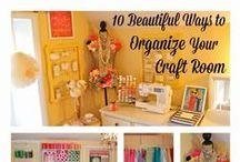Craft Room / Craft Room Make Over, Work Space design, sewing room make over, sewing room ideas
