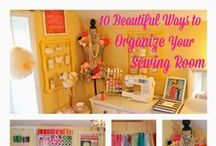 Sewing Room / Sewing room style. Make over. by Jen Kitzmiller of Pretti Mini.