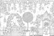 giardini da colorare - garden coloring page  for adult and gardeners / leggi il post sul blog: Giardini da colorare con matite e pennarelli! http://www.giardinoindiretta.it/giardini-da-colorare/