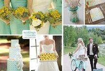 Yellow and Turquoise Wedding