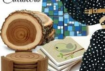 Coasters / Beautiful Handmade Coasters to jazz up your home decor and protect your table tops at the same time!