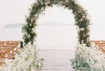 wedding ceremony. / Wedding ceremony inspiration for organic, romantic, outdoor weddings.