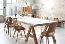 H O M E ... Dining / A place to share…to break bread…to eat and to gather around a big table…here are my inspirations that evoke a sense of the rustic, industrial, edible and the sociable. / by ashlynSTYLISToliveLOVESalfie
