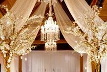 wedding installations. / Inspiration for wedding decor that requires large scale installs.