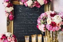 wedding signage. / Wedding signage inspiration including chalkboard signs, mirror signs and wood signs.