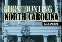 GhostHunting North Carolina / Kala's book Ghosthunting North Carolina . Explore haunted lighthouses and shipwrecked areas of East Carolina where Blackbeard and his pirates still roam. Journey across the state to the most actively haunted capitol in the US, and continue west into the Blue Ridge Mountains where the pink lady and her friends await your presence. http://exploreyourspirit.com/books/ghosthuntingnc/ / by Kala Ambrose
