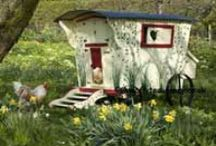Chicken Coop Chic / Pretty painted chicken coops, shabby chic, cottage chic and just plain beautiful. Poultry palaces!