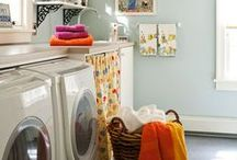 Luxurious Laundry / Who says laundry rooms have to be boring? Make your laundry area somewhere you want to spend time, and folding all those clothes might not be so tedious anymore.